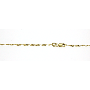 9ct Singapore Rope 025 Gauge 19Cm
