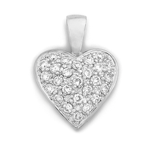 9ct Gold Pave Heart Pendant