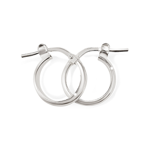 Sterling Silver 10mm 2mm Polished Half Round Hoops