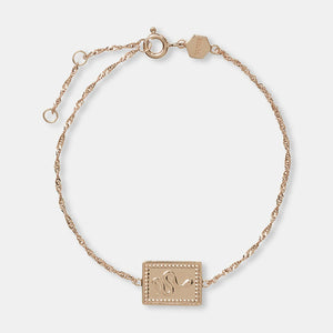 Force Tropicale Rose Gold Twisted Chain Tag