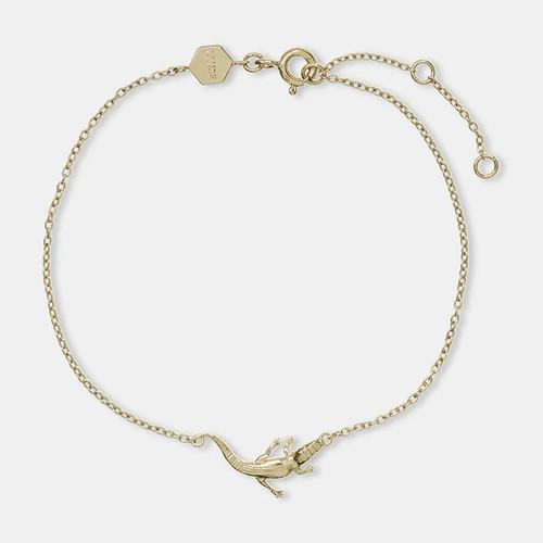 Force Tropicale Gold Alligator Chain Bracelet