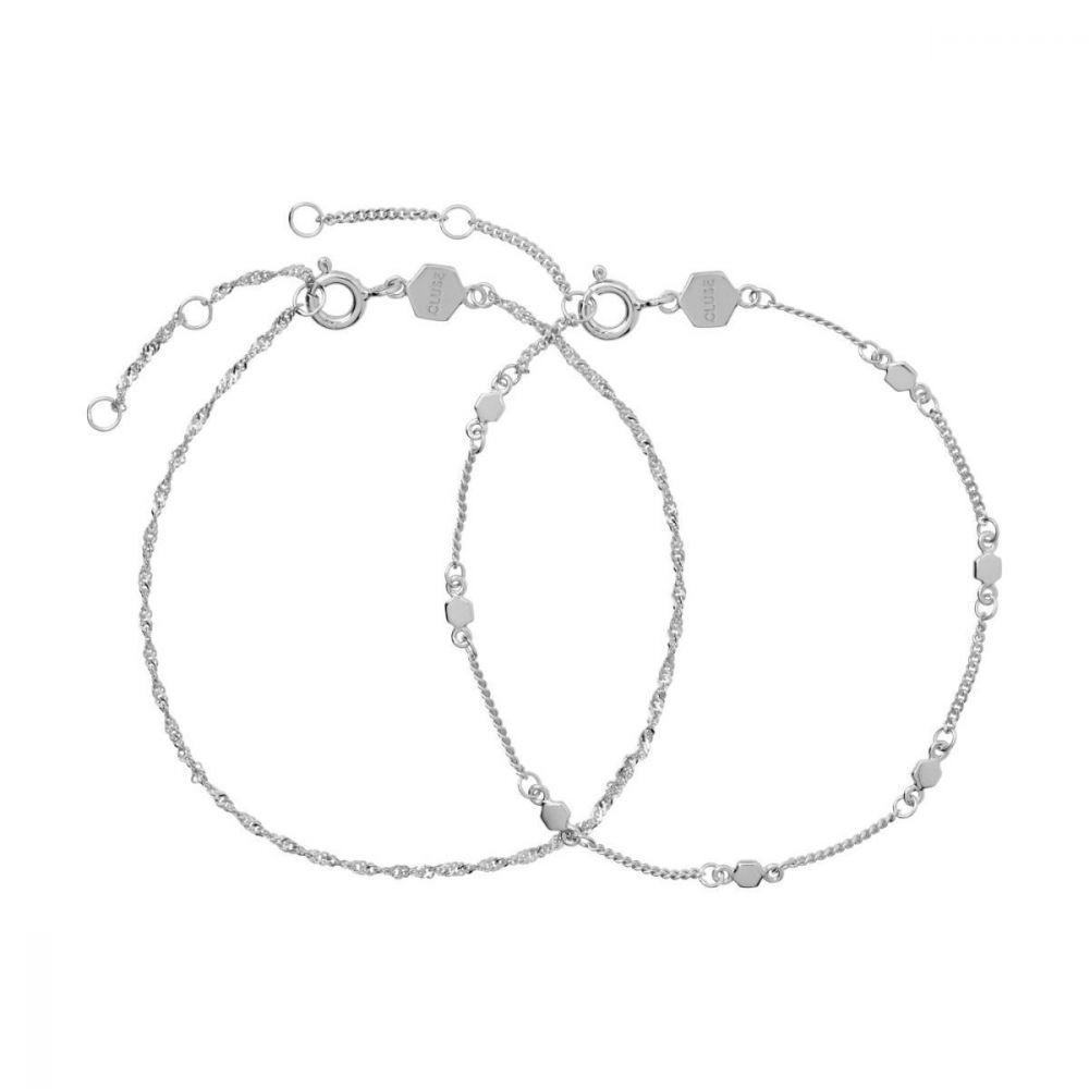 Essentielle Silver Set Twisted and Hexagon Chain