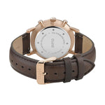 CLUSE Mens Aravis Chronograph Rose Gold White/Brown Leather Watch