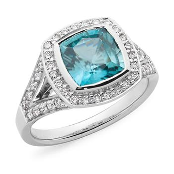 MMJ - Aquamarine & Diamond Dress Ring