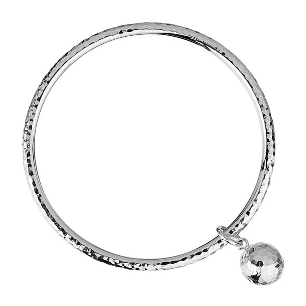 Najo  Shayla Bangle Beaten Silver