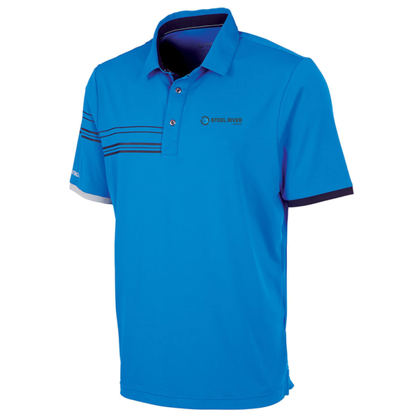 MEN'S COOPER HALF-STRIPE SHORT SLEEVE POLO SHIRT