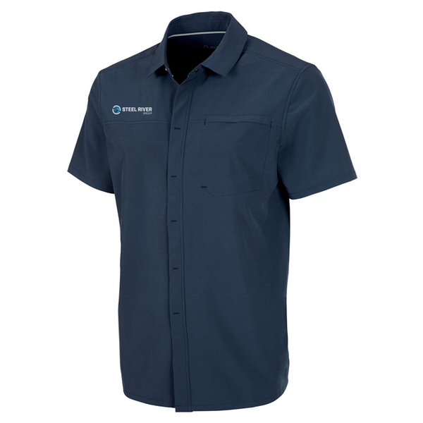 MEN'S DUNCAN WOVEN SNAP-FRONT SHORT SLEEVE SHIRT