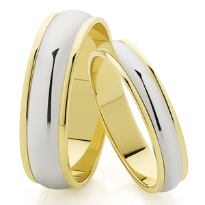 9ct & White Gold 4mm Polished Band