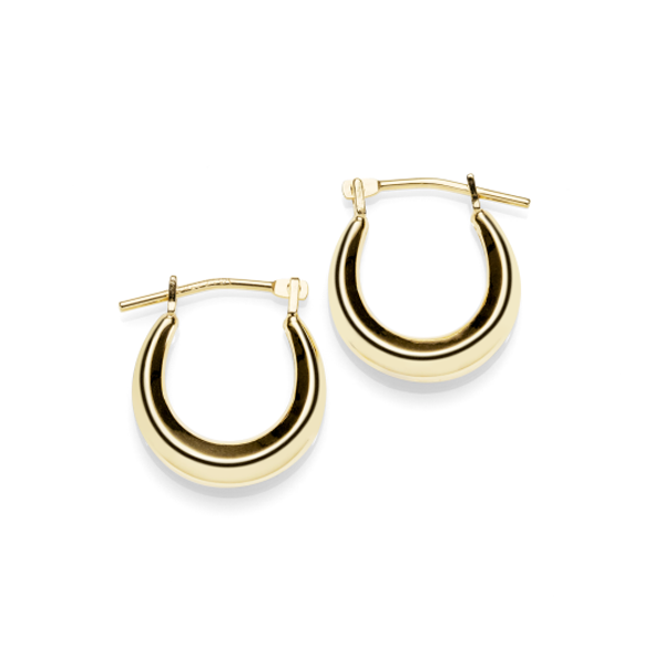 Gold-Bonded Silver Creole Earrings