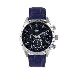 Jag Alain Navy Leather Watch