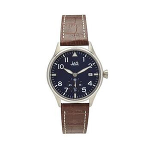Jag Josh Navy Dial/Brown Strap