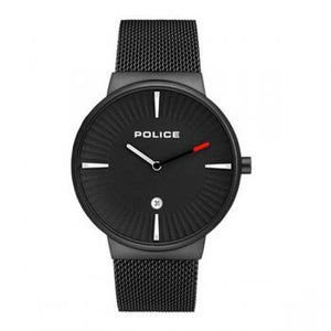 Police Watch Cascade Black Mesh Strap