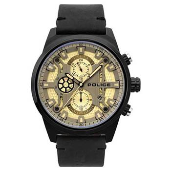 Police Watch Chandler Gold Dial Black Strap