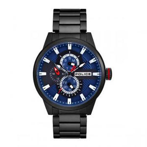 Police Watch Lincoln Blue Dial Black Bracelet