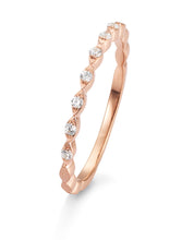 Laden Sie das Bild in den Galerie-Viewer, Kombiring 585 Rosegold mit Diamanten