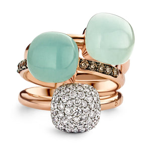 Mini Sweety Ring 750 Rosegold Rock Crystal Blues