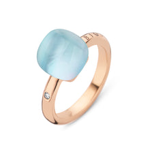 Laden Sie das Bild in den Galerie-Viewer, Mini Sweety Ring 750 Rosegold Rock Crystal Blues