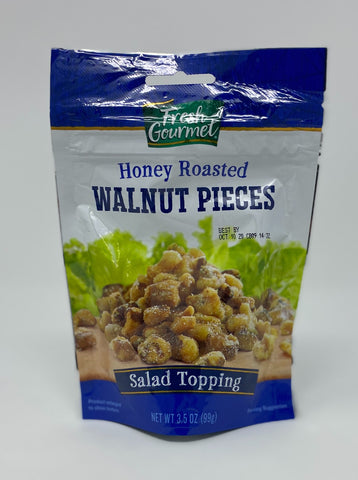 Honey Roasted Walnut Pieces - Salad Topping
