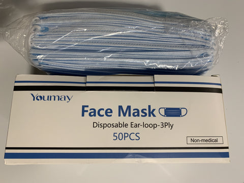 50 pc. Disposable Ear-loop Face Mask