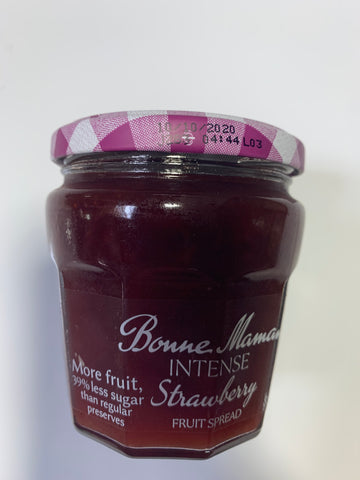 BONNE MAMAN INTENSE STRAWBERRY FRUIT SPREAD 8.2 OZ JAR