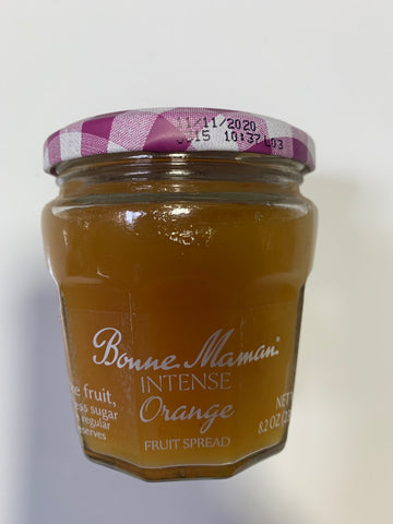 BONNE MAMAN INTENSE ORANGE FRUIT SPREAD 8.2 OZ JAR