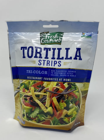 Fresh Gourmet Tri-Color Tortilla Chips - Salad Topping