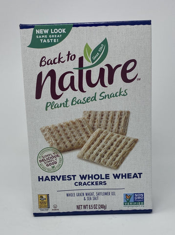 Back to Nature Crackers Harvest Whole Wheat