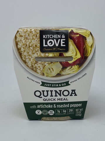 Kitchen & Love Artichoke & Roasted Peppers Quinoa Quick Meal