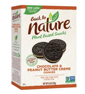 BACK TO NATURE CHOCOLATE PEANUT BUTTER COOKIES 9.6 OZ BOX