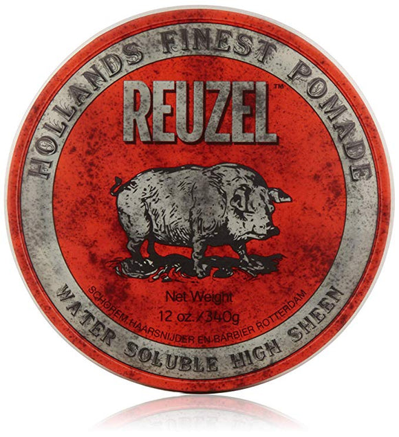 REUZEL Red Water Pomade, Soluble, High Sheen 113g