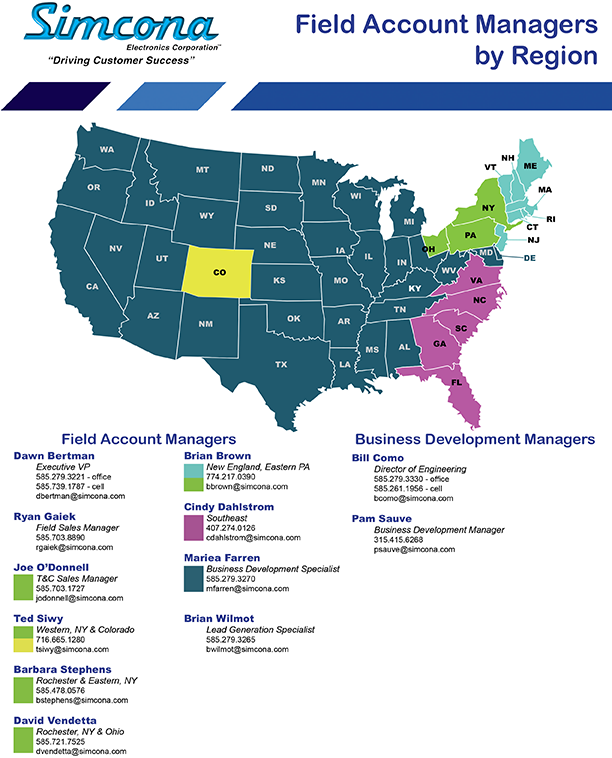 Field Account Managers By Region