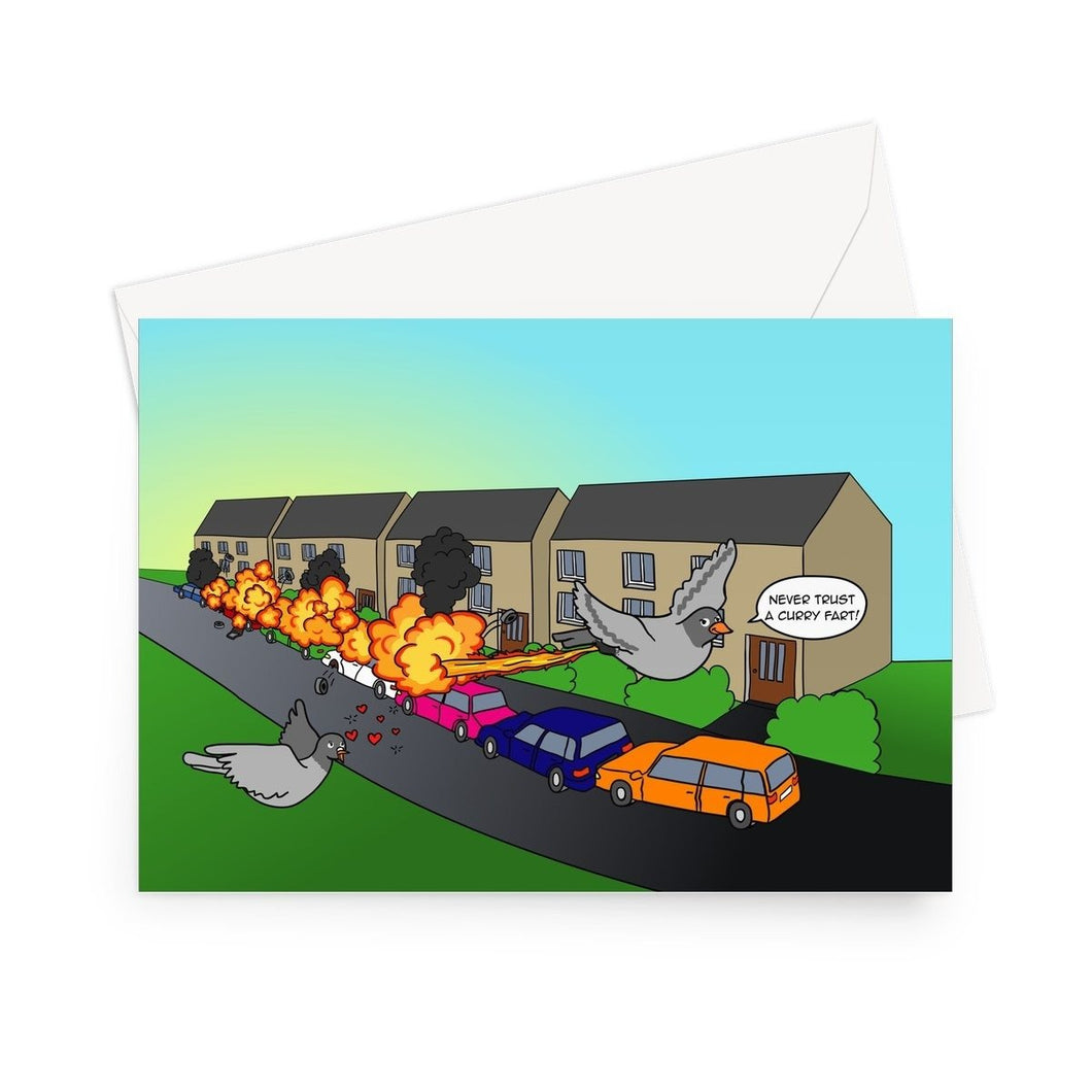 Birthday Cards - Flames Of Glory (UK) 1 Card / 5