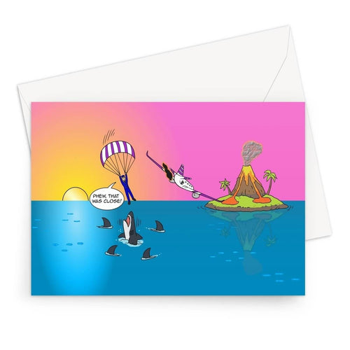 Birthday Cards - Sure Shark Redemption (UK) A5 / 1 Card