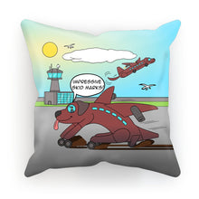 "Load image into Gallery viewer, Cushions - Ruff Landing (UK/USA) 18""x18"" / Linen"