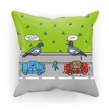 "Load image into Gallery viewer, Flipping The Bird - revised Cushion Linen / 18""x18"""
