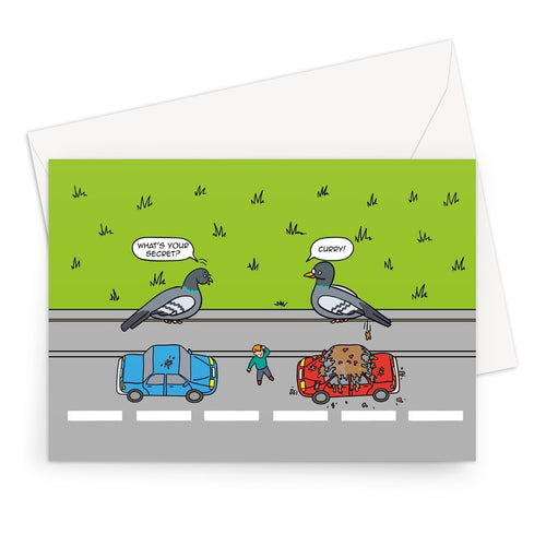 Flipping The Bird - revised Greeting Card A5 / 1 Card