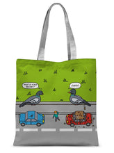 "Load image into Gallery viewer, Flipping The Bird - revised Sublimation Tote Bag 15""x16.5"""