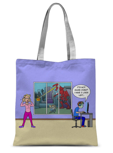 Game Over Revised Sublimation Tote Bag 15