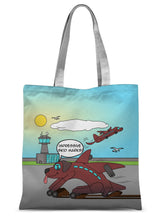 "Load image into Gallery viewer, Ruff Landing - Refresh Sublimation Tote Bag 15""x16.5"""