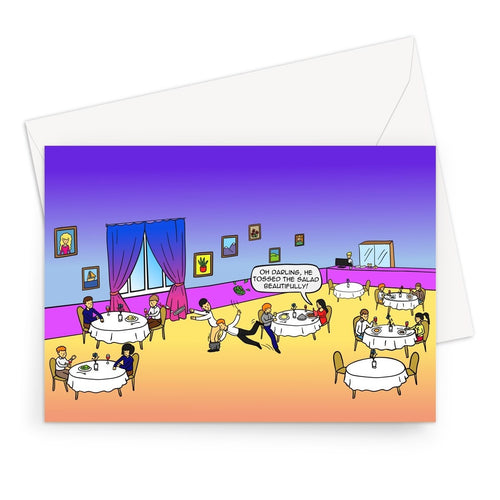 Tossing Salad Greeting Card A5 / 1 Card