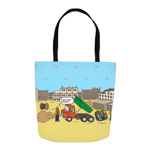 Tote Bags - Digging The Dirt (USA) 16x16 inch