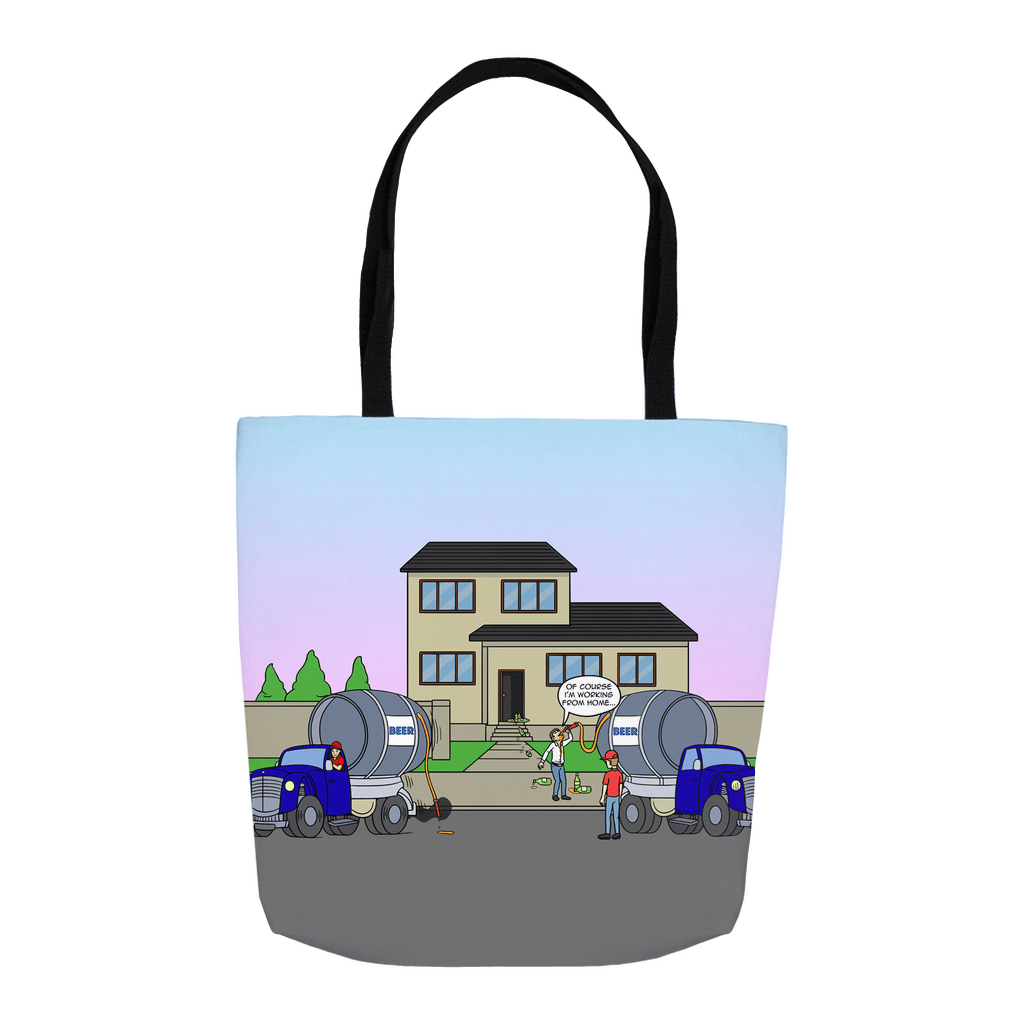 Tote Bags - Slurping From Home (USA) 16x16 inch