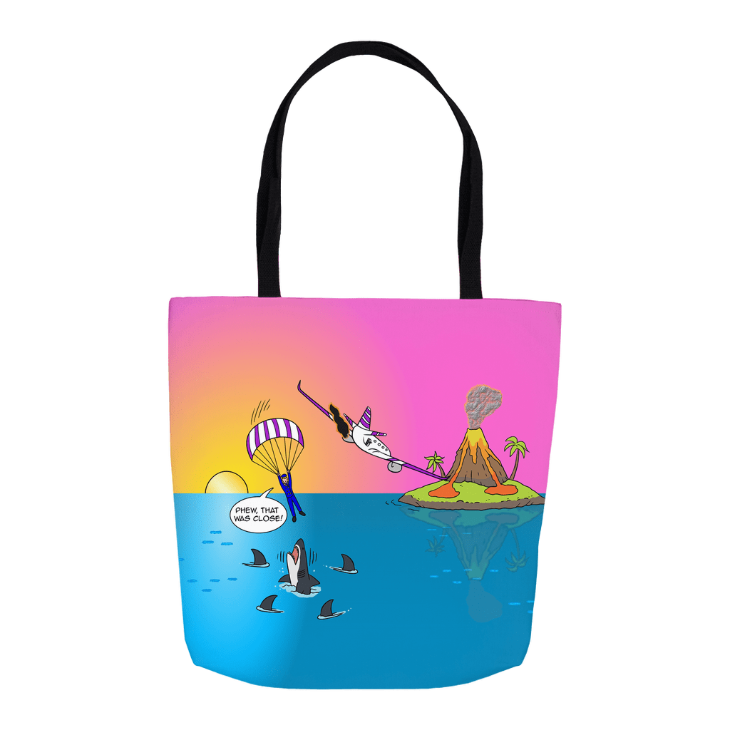Tote Bags - Sure Shark Redemption (USA) 16x16 inch