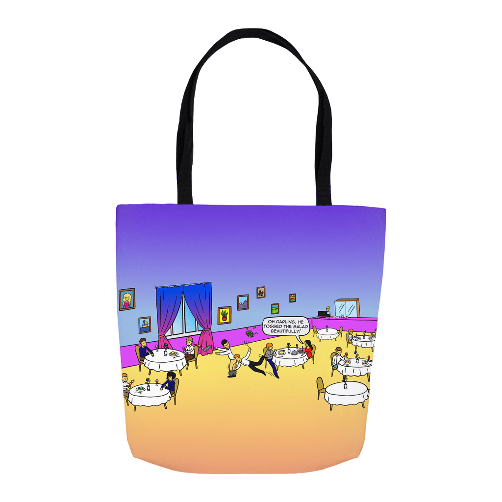 Tote Bags - Tossing The Salad (USA) 16x16 inch