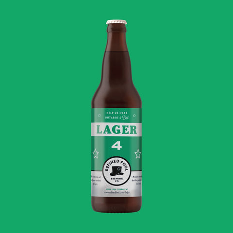 Lager 4 650ml Refined Fool Brewing Co.