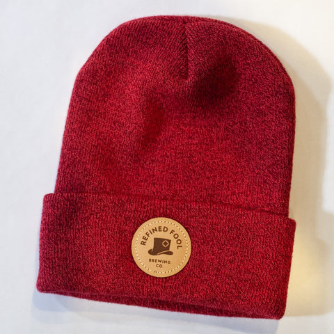 Leather Patch Toque Merch Refined Fool Bottle Shop Red