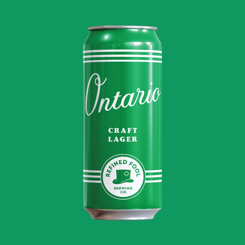 Ontario - Craft Lager 473ml Refined Fool Bottle Shop Single