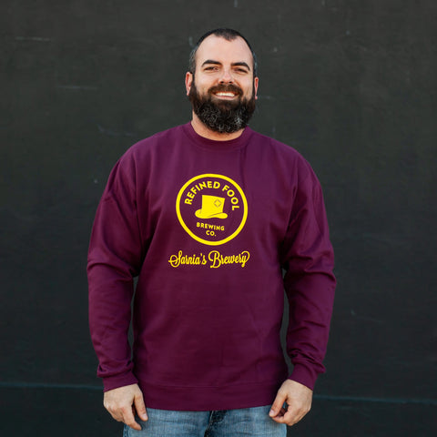 Sarnia's Brewery Unisex Crewneck Sweater Merch Refined Fool Brewing Co.