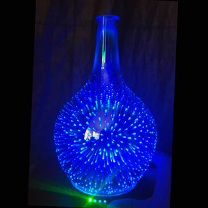 7 Color Light 3D Glass Vase Aromatherapy Essential Oil Aroma Diffuser