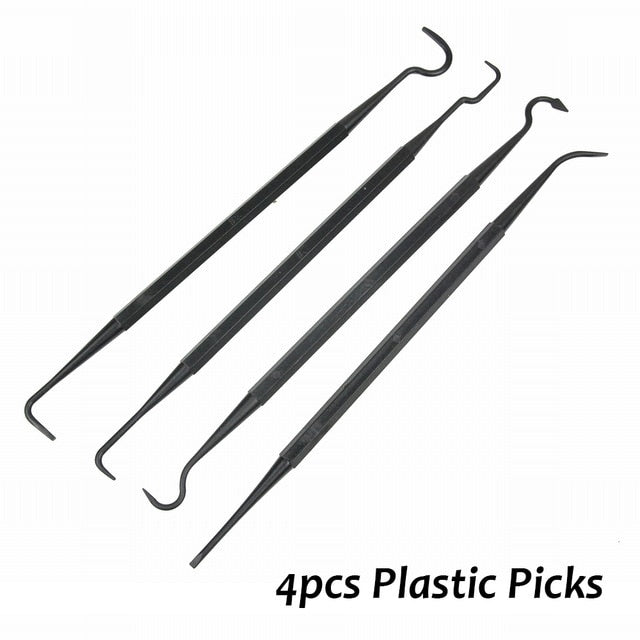 Weapon cleaning kit (3 Steel Wire Brushes + 4 Steel Picks)